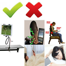 Flexible Table Desk Gooseneck iPad Tablet Handfree Bolt Clamp Mount Holder Stand