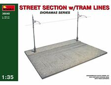 Miniart 1:35 - Street Section w/ Tram Lines + Free Tube of Glue
