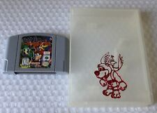 *BACK STICKER* Banjo Kazooie Nintendo 64 Not For Resale NFR Demo Super Rare HTF