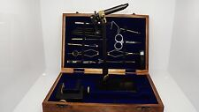 Salmon  Fly tying tool kits in a wooden box, Vice, tools, ( code FT64 )