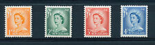 NEW ZEALAND 1955-59 DEFINITIVES SG745b,747a,748b,749a White Opaque Paper MNH