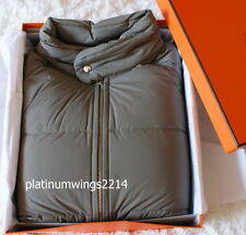 NIB Authentic HERMES Men's Gray Etoupe Sellier Piumino Goose Down Puffer Jacket