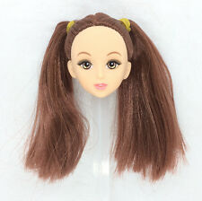 1Pcs Fashion Doll Head With Two Brown Braid Hair DIY Accessories For Barbie Doll