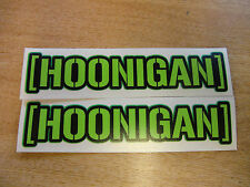 hoonigan sticker - pair -  ken block  decal 7in x 1.5in - GREEN