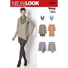 NEW LOOK Sewing Pattern Misses Womens Plus EASY Dress+ Tops+Scarf Sz 8-20~6412