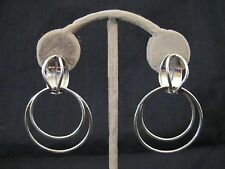 Vintage Modernist Sterling 925 EARRINGS Made in Taxco, Mexico, Signed