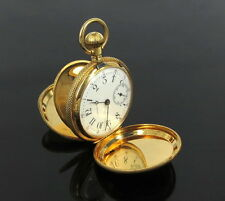 Antique 1901 Tiffany & Co Triple Signed 18K Yellow Gold Hunter Pocket Watch