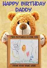 A5 Personalised Greeting Card Birthday Card Teddy Bear PIDS12 Daddy Mummy son