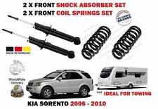 FOR KIA SORENTO 2.5 CRDI 2006-  2X FRONT SHOCK ABSORBERS + 2X COIL SPRING TOWING