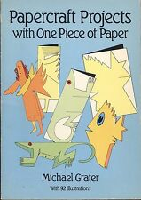 Papercraft Projects with One Piece of Paper by Michael Grater (1987, Paperback)