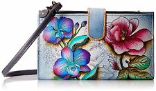 Anuschka™ Floral Fantasy, Leather Smart Phone Case and Wallet w/ Strap