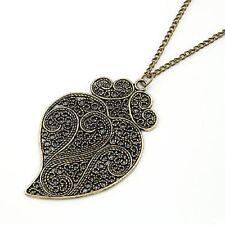 collar cadena larga bronce envejecido corazon grande romantico retro gotico