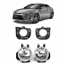 2014-2015 Scion tC Chrome Clear Front Bumper Driving Fog Lights+Bulbs+Switch
