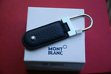 Montblanc107688 Meisterstuck Key Fob/Ring Stainless Steel & Black Leather