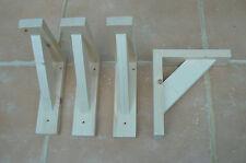 """Wooden Shelf Brackets x 4 (Ideal for 6.0"""" - 7.0"""" Shelves)"""