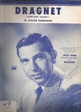 Dragnet (Theme from Dragnet) Walter Schumann Sheet Music 1953