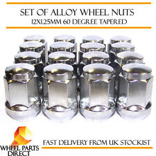 Alloy Wheel Nuts (16) 12x1.25 Bolts Tapered for Nissan Micra [Mk2] 92-03