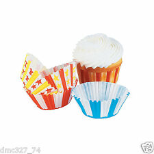 100 Carnival Circus BIG TOP Tent Party CUPCAKE Paper Baking Liners CUPS