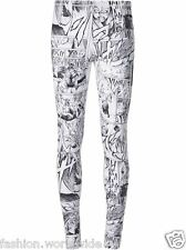 Authentic McQ by Alexander McQueen White Manga Print Leggings Size L *CLEARANCE*