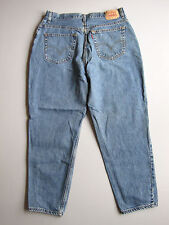 Women's Levi's 550 High Waist Tapered Mom Jeans Blue Relaxed 16 Denim 34""
