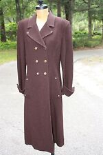 $1300 New NOS 12 St. John Marie Gray Belted Chocolate Brown Coat Jacket Long