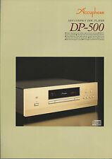 Accuphase dp-500 Catalogo Prospetto Catalogue datasheet brochure de