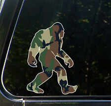 "PS-001 - Sasquatch in Camo - Camouflage Bigfoot - Sticker © YYDCo.(4""w x 6""h)"
