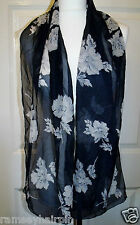 BARGAIN!!! BLUE MORGAN TAYLOR WRAP ~ HEAD ~ SQUARE ~ SCARF ~ SCARVE  #120