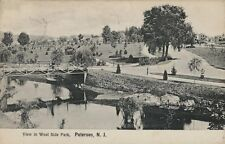 1908 Postcard - View In West Side Park - Paterson New Jersey