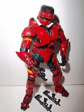 Halo 3 Series 2 **RED EOD Spartan Soldier** McFarlane 100% Complete w/ Guns!!