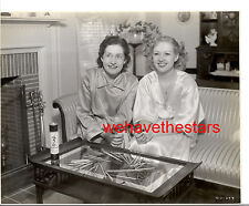 Vintage Betty Grable & Mother PLAY PICK UP STICKS AT HOME 30s Publicity Portrait