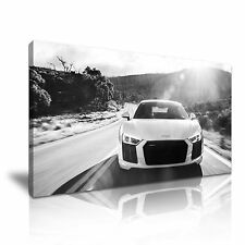 Superb Audi R8 Canvas Wall Art Picture Print 60x30cm 2