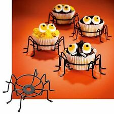HALLOWEEN SPIDER LEGS CUPCAKE STAND HOLDER SET OF 4 METAL WIRE PARTY NEW!