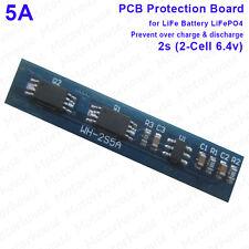 5A batería de duración de protección PCM circuito Pcb Módulo BMS para 2S 6.4v LiFePO 4 Pack
