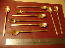 9 SCC Towle stainless Gold Tone Stereo pattern  iced tea spoons