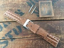 """11/16"""" 18mm Perforated Rally Short New Old Stock 1970s Vintage Watch Band nos"""