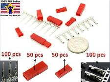 50 Sets Female & Male JST 2 Pin Red Color Housing With Pin Connector