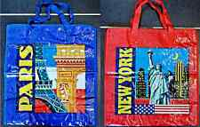 1 SAC SHOPPING NEW YORK PARIS BLEU ROUGE SAC DE COURSE MODE