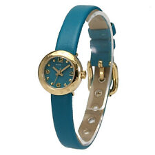 New Marc Jacobs Womens MINI Watch Dinky Amy Roller Up Teal Leather /Box MBM1253