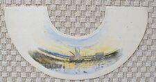 Projet d'Abat-Jour - Aquarelle Originale - Paysage Marin - Port - Bateau - 1900