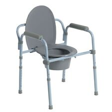 Drive Medical Steel Folding Frame Commode- RTL11158KDR Folding Frame Commode NEW