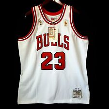 100% Authentic Michael Jordan Mitchell Ness 96 97 Finals Bulls Home Jersey 48 *