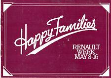 Renault 'Happy Families' Event 1981 UK Market Brochure 4 5 14 18 Fuego 20 30