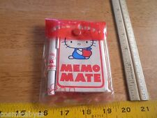 SANRIO 1976 Hello Kitty Memo Mate set with pen MIP Japan VINTAGE HTF
