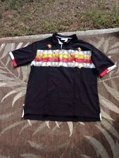 Roca Wear Men's Polo Shirt Black 100% Cotton Short Sleeve Size Large