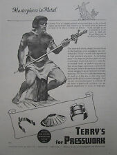 8/1947 PUB TERRY PRESSWORK CLEMENS HORN OF SOLINGEN SWORD EPEE PRINCE HENRY AD
