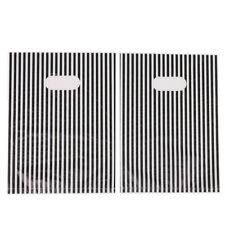 100pcs New Sale White & Black Stripes Plastic Flat Carrier Bags Fit Shopping LC