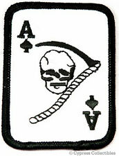 ACE SPADES IRON-ON DEATH PATCH SKULL BIKER EMBROIDERED VIETNAM WAR KILL EMBLEM