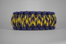 550 Paracord Survival Bracelet King Cobra Purple/Yellow/Grapevine Camping
