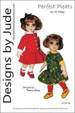 "Pleated Dress Doll Clothes Sewing Pattern 10"" Patsy & Ann Estelle Tonner"